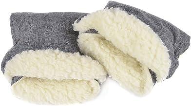 Handmuff Muff mit Fleece Innenseite Handwärmer für Herbst und Winter Lammwolle Len 073
