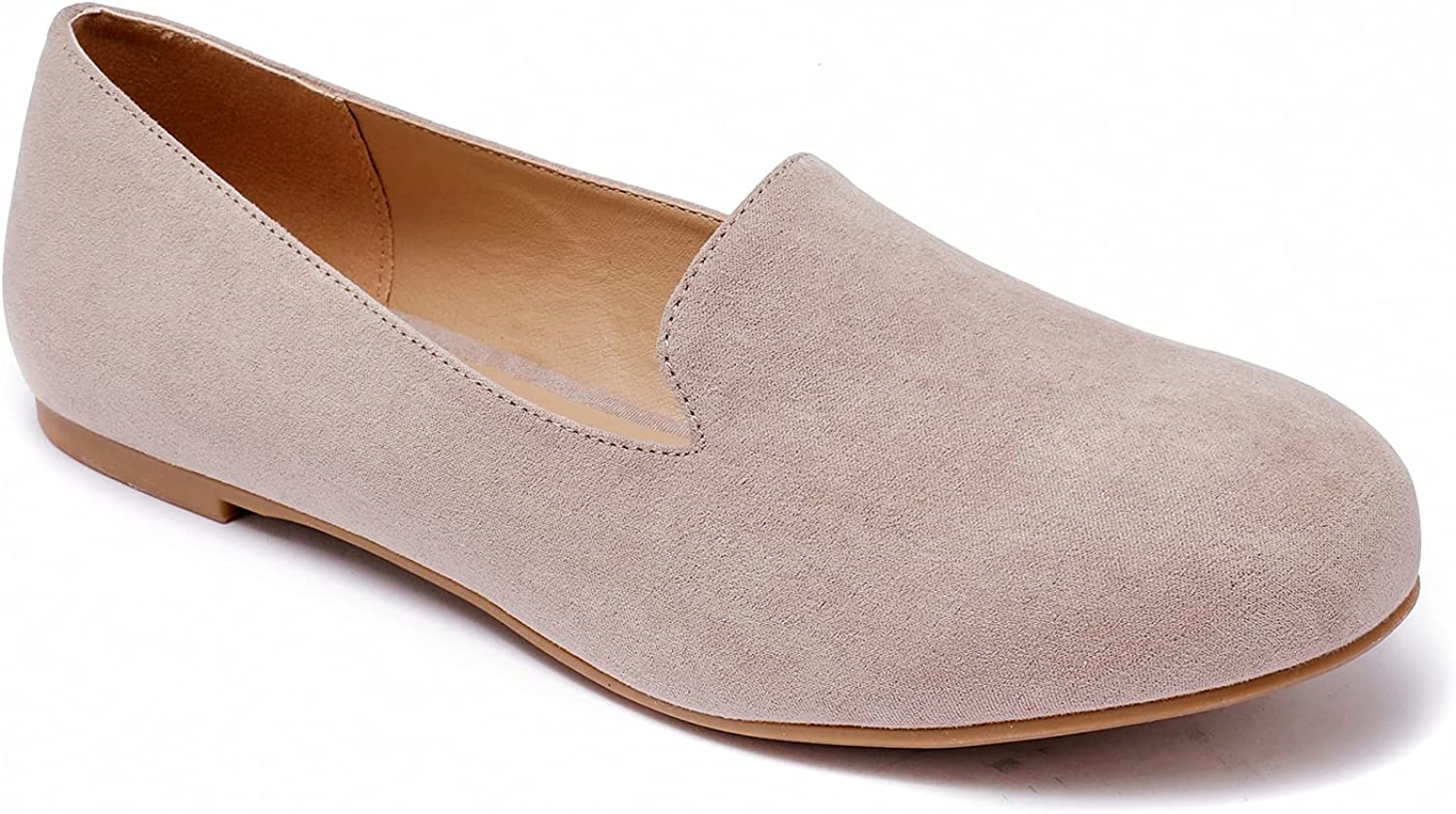Luoika Women's Wide Width New item Special sale item Flat Shoes Ba Slip Casual On - Comfort