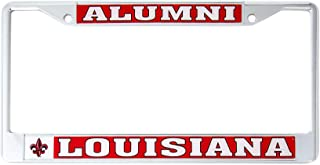 Desert Cactus Louisiana - Lafayette University Alumni Metal License Plate Frame for Front Back of Car Officially Licensed Rajin' Cajuns (Alumni)