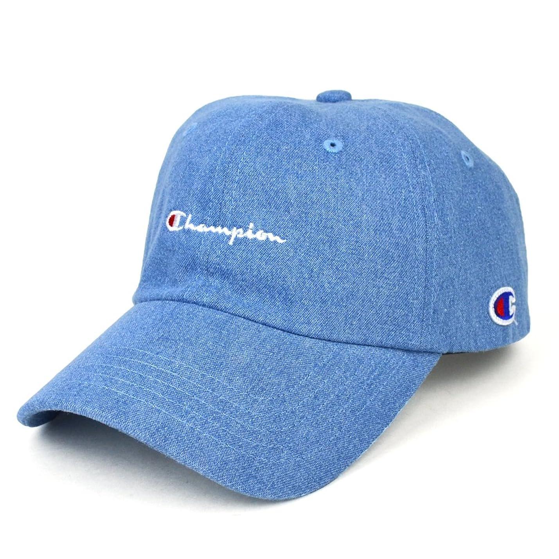 くかどうかカイウス(チャンピオン) CHAMPION DENIM 6-PANEL CAP 6パネル デニム キャップ ONESIZE LIGHT BLUE
