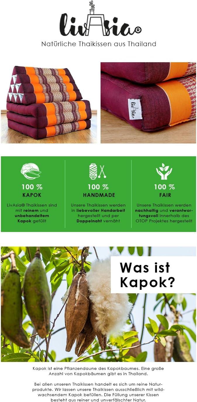 Dieses Kissen wurde aus 100% Kapok Material und mit feinster Handarbeit hergestellt.