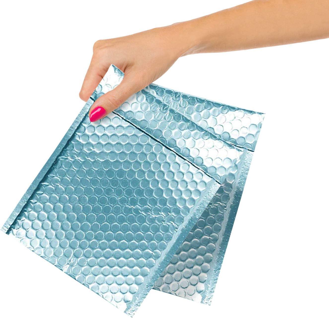 ABC 100 セールSALE%OFF Pack Ice Blue Metallic Bubble Mailers x Colo Matte 期間限定で特別価格 9 6.5