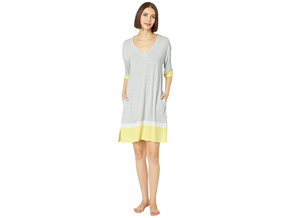 Donna Karan Color Block Sleepshirt (Light Grey Heather) Women