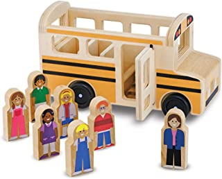 Melissa & Doug Wooden School Bus (Classic Toy Play Set, 7 Play Figures, Great Gift for Girls and Boys - Best for 3, 4, 5, and 6 Year Olds)