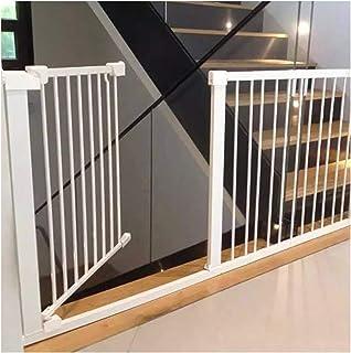 ベビーゲート ベビーゲート猫 犬用 フェンス ガ—ドレ—ル 階段上 白い壁に穴を開けず 設置幅63~223cm ホワイト ガード ス オートクローズ機能 赤ちゃん 幼児 子供 (Color:白い,Size:209-216cm)