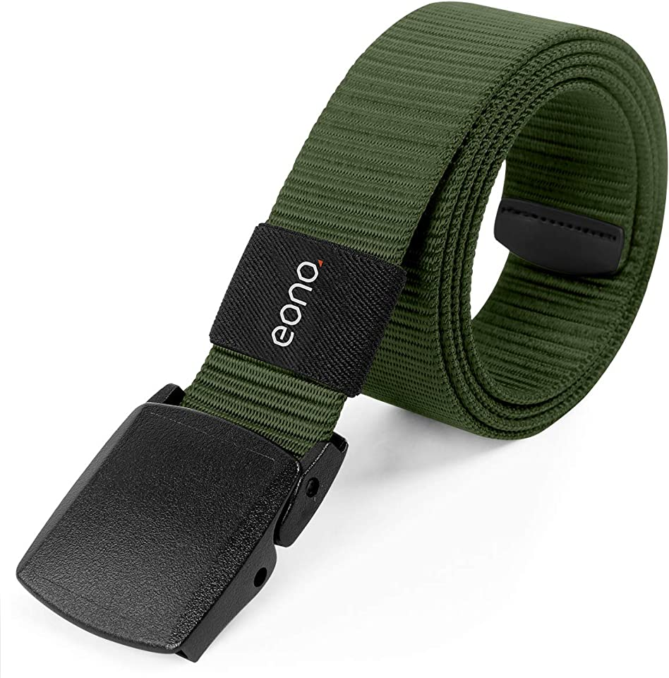 Essential Lightweight Nylon Belt for men women Military Tactical Heavy Duty Belt Quick Release Metal Free Buckle Belt