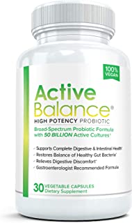 Active Balance Probiotic 50 Billion CFUs: Pharmacist Recommended Probiotics for Women and Men | Shelf Stable Acidophilus S...