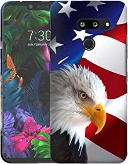 Inkmodo - Designer Hard Case for LG G8 / LG G8 ThinQ - Bald Eagle USA American Flag Printed Slim Profile Cute Plastic Snap on Back Cover