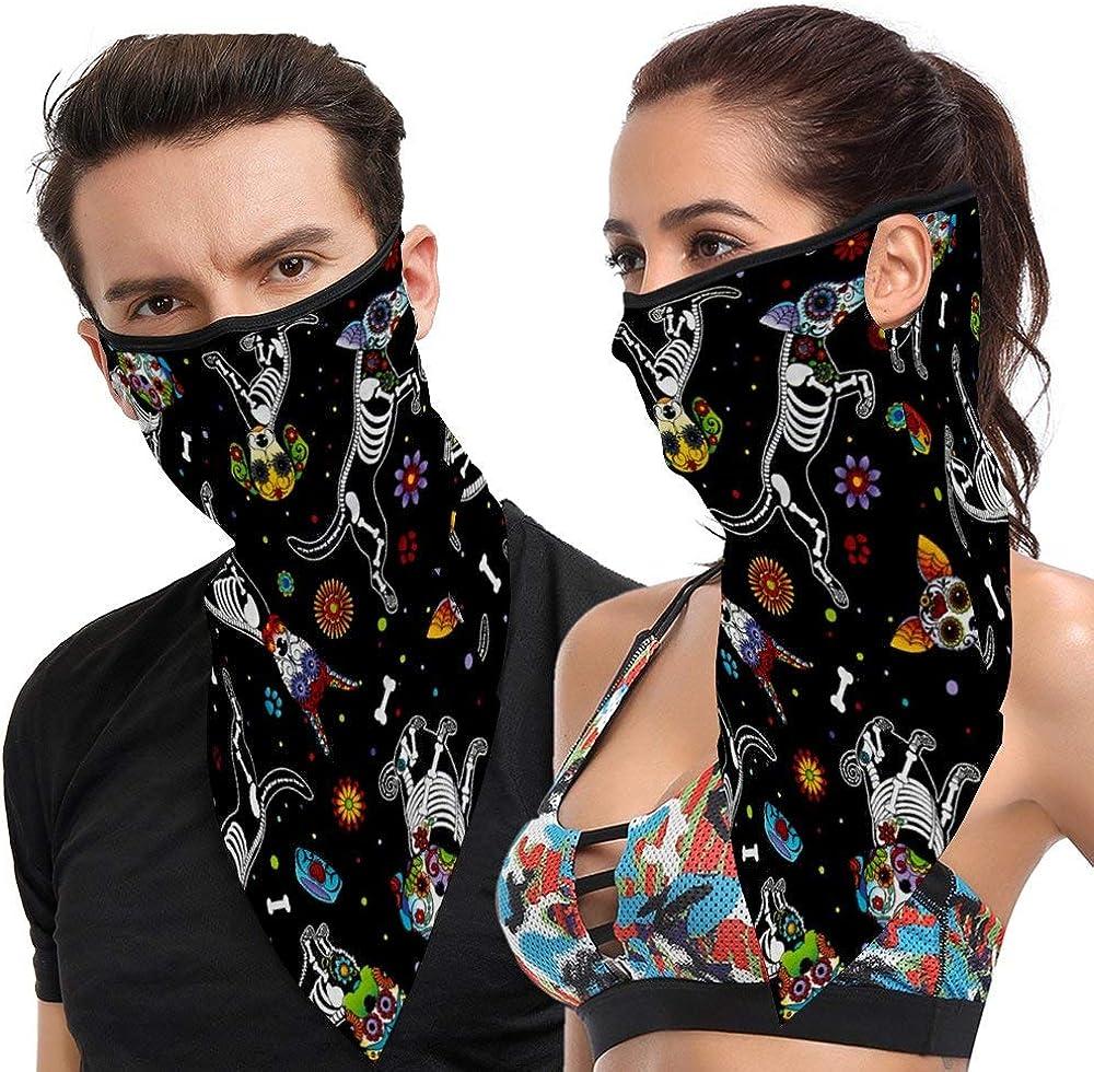 1 PCS Face Bandana Scarf Men Women Fashion Ear Loops Neck Gaiters Breathable Balaclava for Dust Wind
