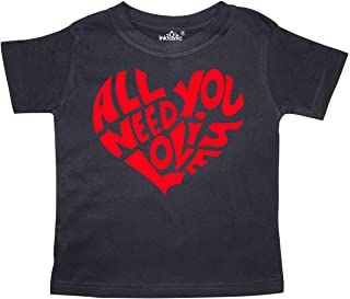 All You Need is Love Red Heart Shape Toddler T-Shirt
