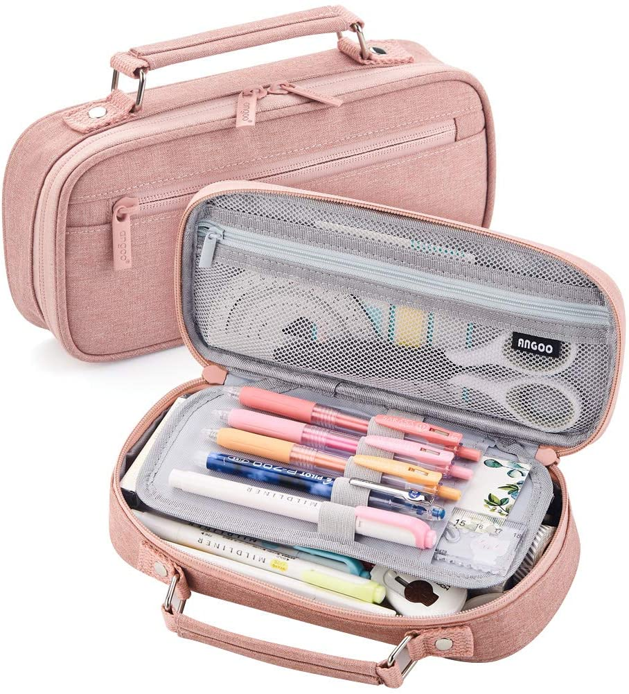 free EASTHILL Big Mesa Mall Capacity Pencil Case pe Large School Office College