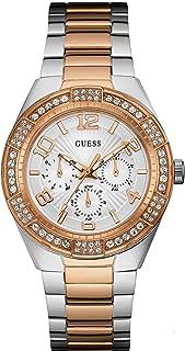 ساعة جيس للنساء بمينا بيضاء وسوار من الستانلس ستيل - W0729L4