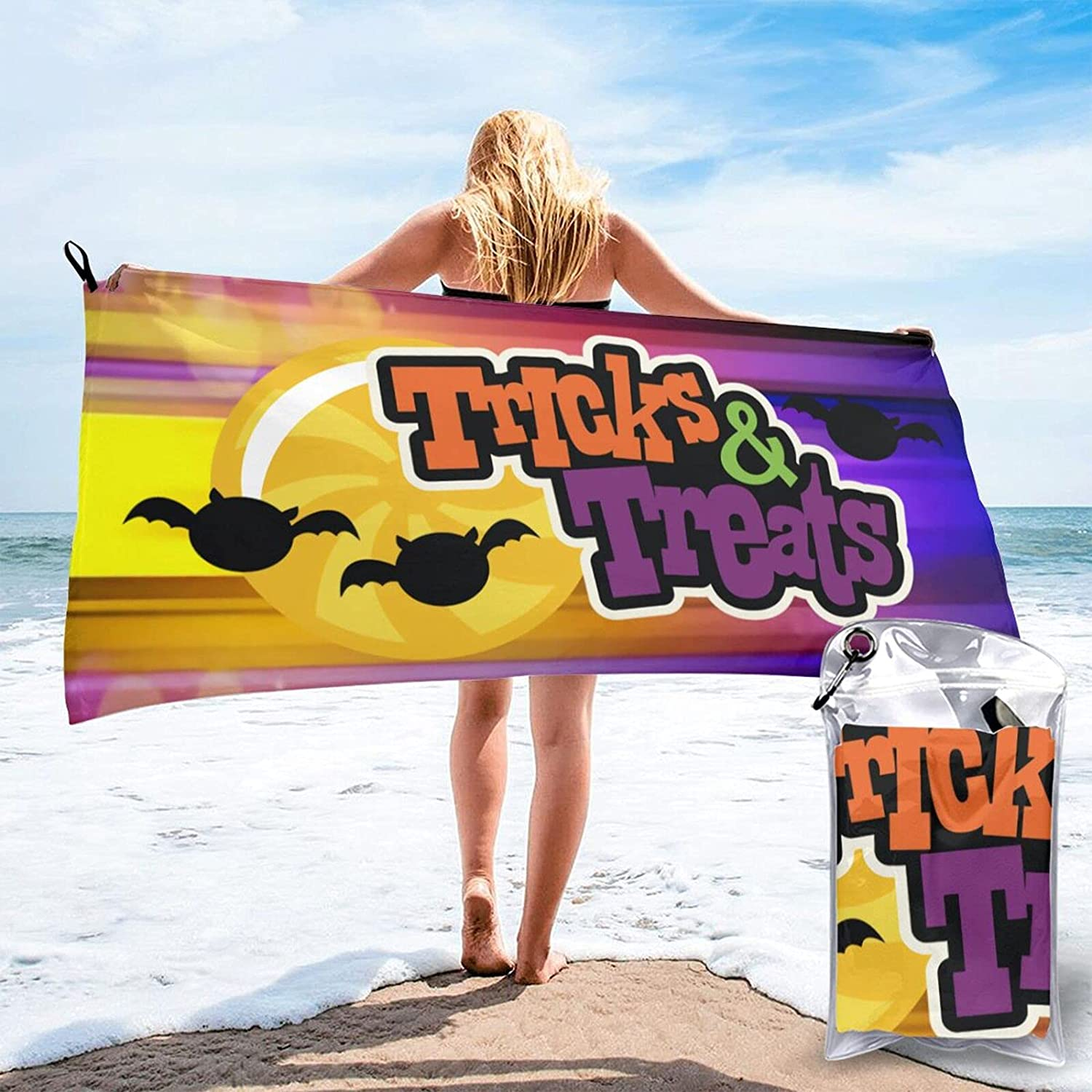 Trick-Or-Treat Microfiber Towel Fast Luxury Translated goods Drying Ultra Ca for Compact