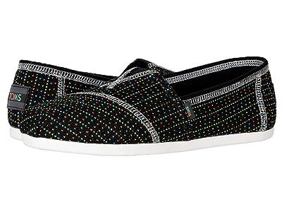 TOMS Zappos 20th x Alpargata (Black Custom Knit) Women