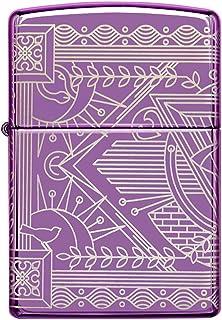 Zippo Briquet temp/ête /à Essence Rechargeable en Forme de Boussole avec embl/ème chrom/é bross/é dans Une bo/îte Cadeau de Haute qualit/é Argent Normal 2007132