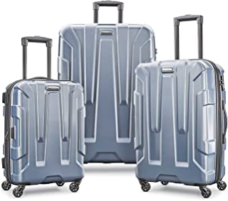 Samsonite Centric Hardside Expandable Luggage with Spinner Wheels, Blue Slate, 3-Piece Set (20/24/28)