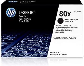 HP 80X | CF280XD | 2 Toner Cartridges | Black | High Yield