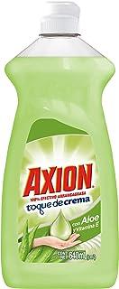 Axion Detergente Líquido Lavatrastes, Toques de Crema con Aloe y Vitamina E, 640 ml