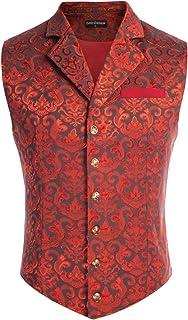 Mens Victorian Suit Vest Steampunk Gothic Waistcoat