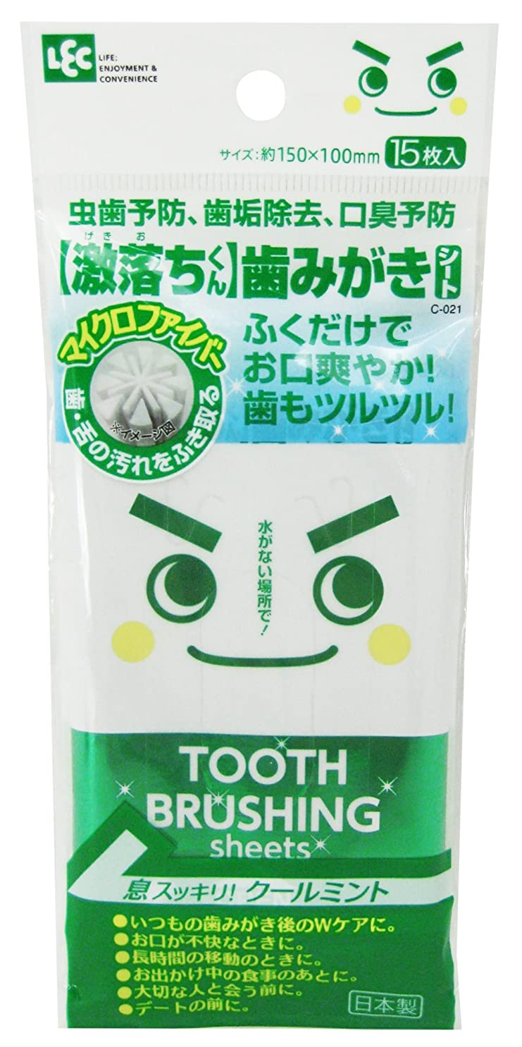 隠のヒープデコレーション【激落ちくん】歯みがきシート 15枚