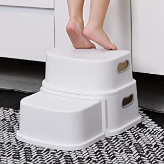 Glamore 2 Step Stool for Kids, Toddler Step Stool, Kids Step Stool for Potty Training, Bathroom Toilet Stool, Slip Resista...