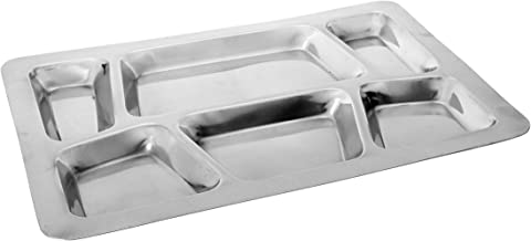 Winco 6-Compartment Mess Tray, Style B