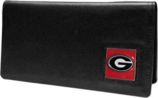 Siskiyou NCAA Georgia Bulldogs Leather Checkbook Cover