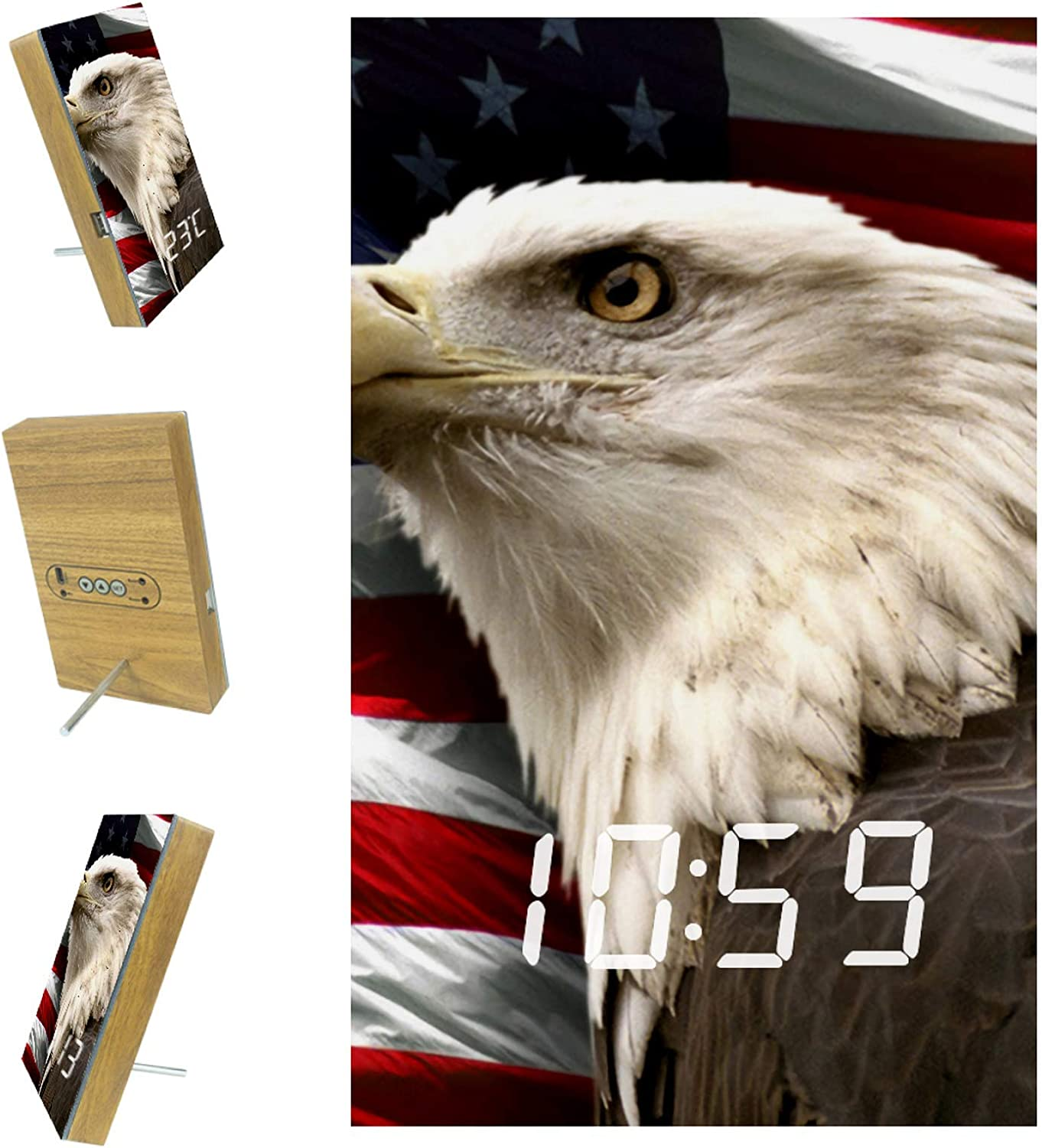 Digital Alarm Clock murrica for Kitchen 5 ☆ very NEW before selling ☆ popular Office 3 Bedrooms