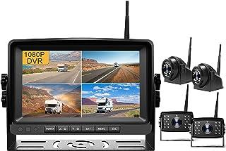 "$459 » Fursom 9"" 1080P DVR Wireless Backup Camera, Quad Split Monitor, IP69 Waterproof Side Rear View Vehicle Reverse Camera Syst..."
