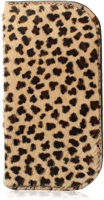 Genuine Furry Animal Print Leather Soft Sunglasses & Eyeglasses Case