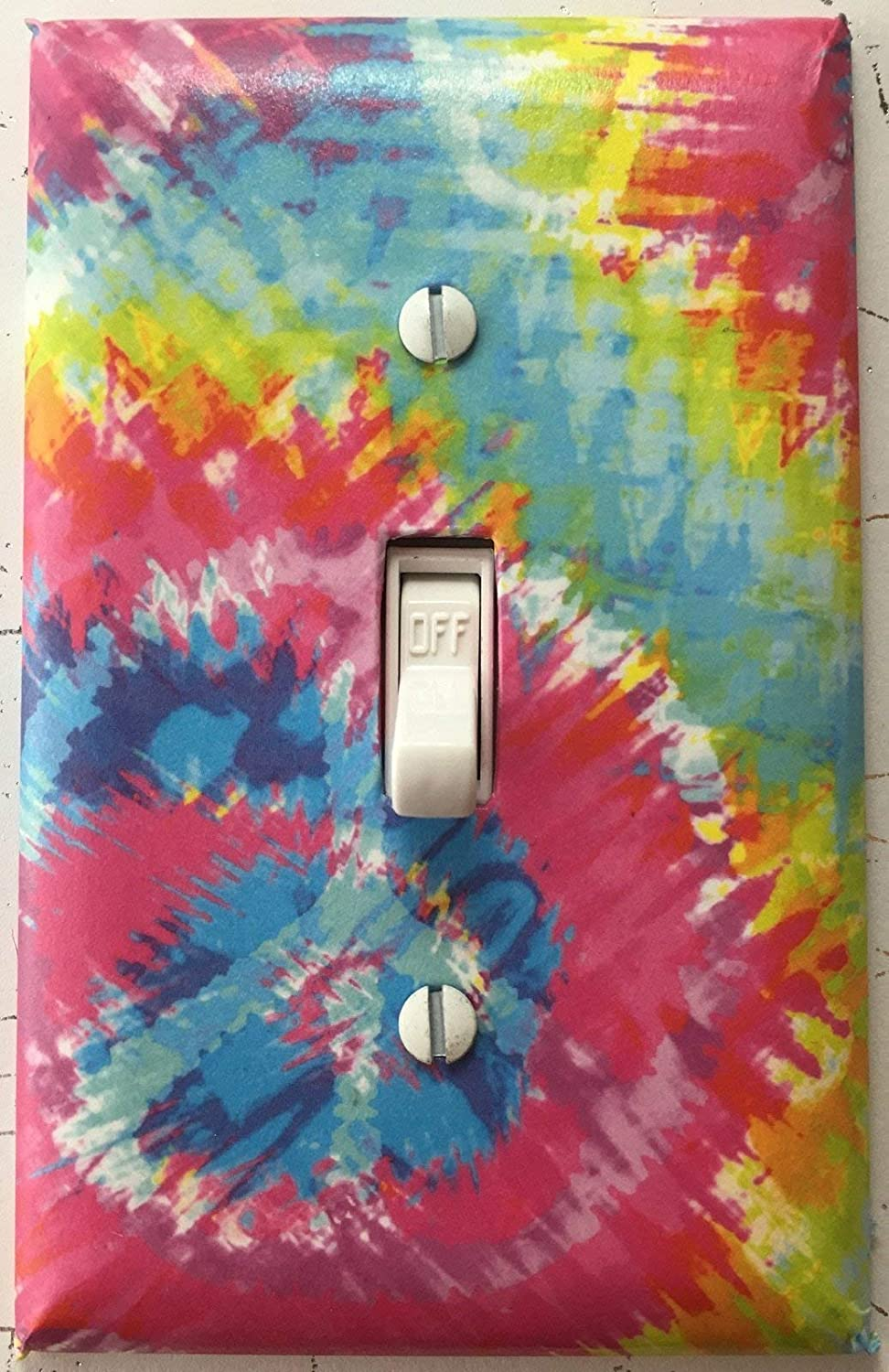 Tie Dye Peace Sign Decorative Wall Cover Switch Light San Francisco Mall Opening large release sale Plate
