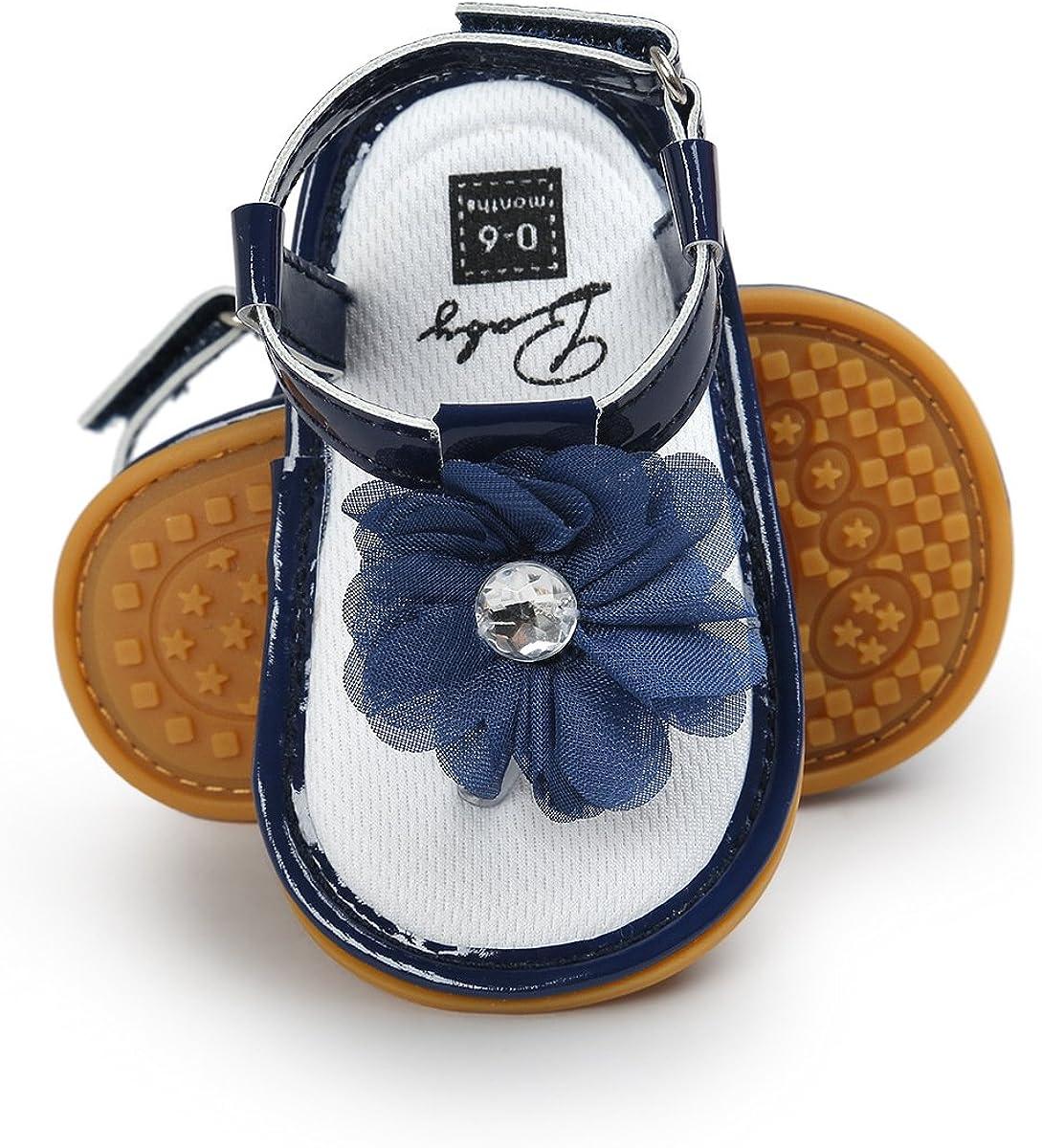 ENERCAKE Infant Baby Girls Sandals Fla Soft T-Strap Toddler Branded goods Online limited product Sole