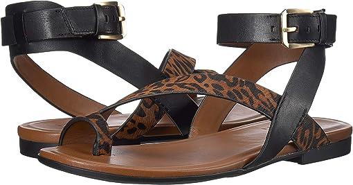 Cheetah/Black Leather