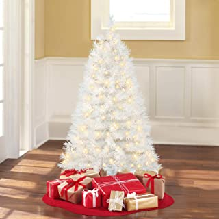 4 Ft. Pre-Lit Clear White Indiana Spruce Artificial Christmas Tree