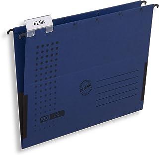 ELBA Torba wisząca chic na format A4, z kartonu, z lnianymi mareczkami, ciemnoniebieska, opakowanie 5 szt