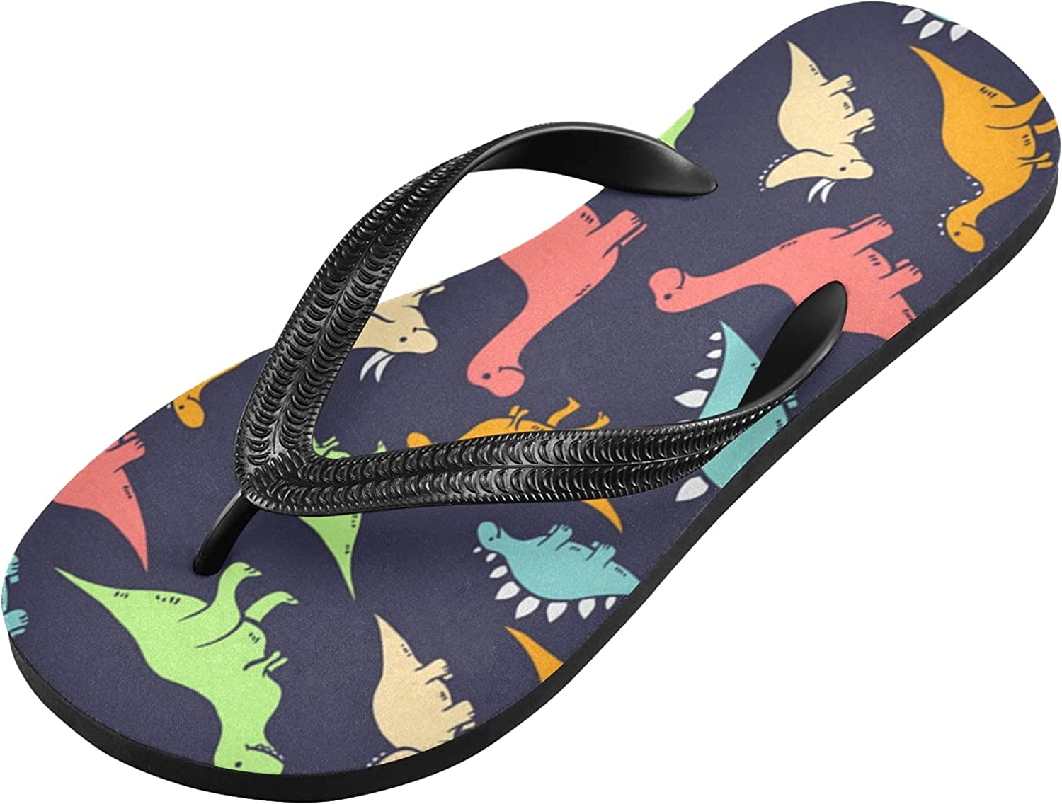 Qilmy Colorful Dinosaurs Flip Flop Lightweight Casual Non-slip S Safety and trust Max 46% OFF