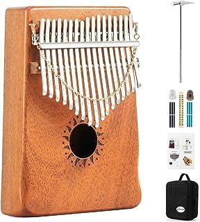 Donner 17 Key Kalimba Thumb Piano Solid Finger Piano Mahogany Body DKL-17 With Hard Case
