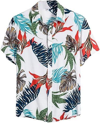Camisa Estampada para Hombre Primavera y Verano Moda Camisas ...