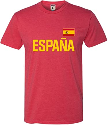 Go All Out Adult Team Spain Espana Pride Deluxe T-Shirt
