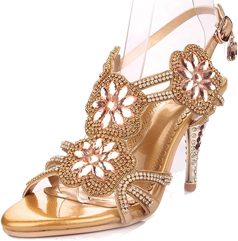 Davikey Women's Glitter Sandal pinktte Dress Sandals High Heels Wedding Heels