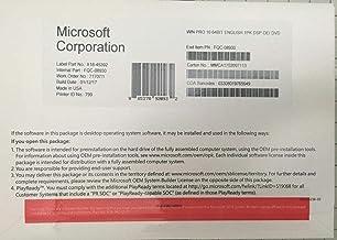 مايكروسوفت ويندوز 10 بروفيشنال برو 64 بت حزمة كاملة [مفتاح الوسائط والترخيص] جديد - مختوم