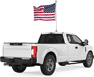 Beast Car Flag - World's Only Car Mountable Flag Pole System | Patent Pending | Includes 2 x 3 Flag | Bright LED Light | Adjustable Pole | Weatherproof | Fits Cars, Trucks & SUVs