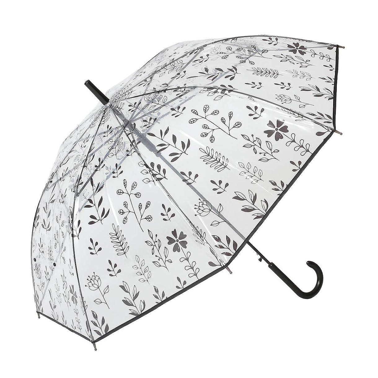 偏見パトワ眠っているPOE プリントジャンプ傘 北欧調 【LIEBEN-0648】 ビニール傘