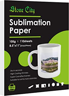 Stone city Heat Transfer Sublimation Paper 110 Sheets 8.5 x 11 Inch Letter Size for Inkjet Printer