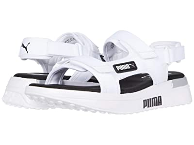 PUMA Future Rider Sandal (Puma White/Puma Black) Men