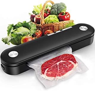adofi Vacuum Sealer Machine for Food Saver Storage, Vacuum Air Sealing System with Compact Design Dry Moist Food Modes