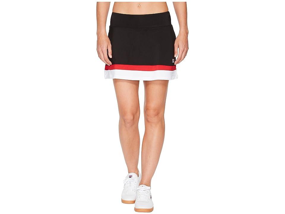 Fila Heritage Tennis Skort (Black/White/Crimson) Women