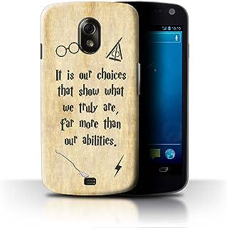 eSwish Carcasa/Funda Dura para el Samsung Galaxy Nexus 3/I9250 / Serie: Escuela de Magia Cotizaciones - Choices & Abilities