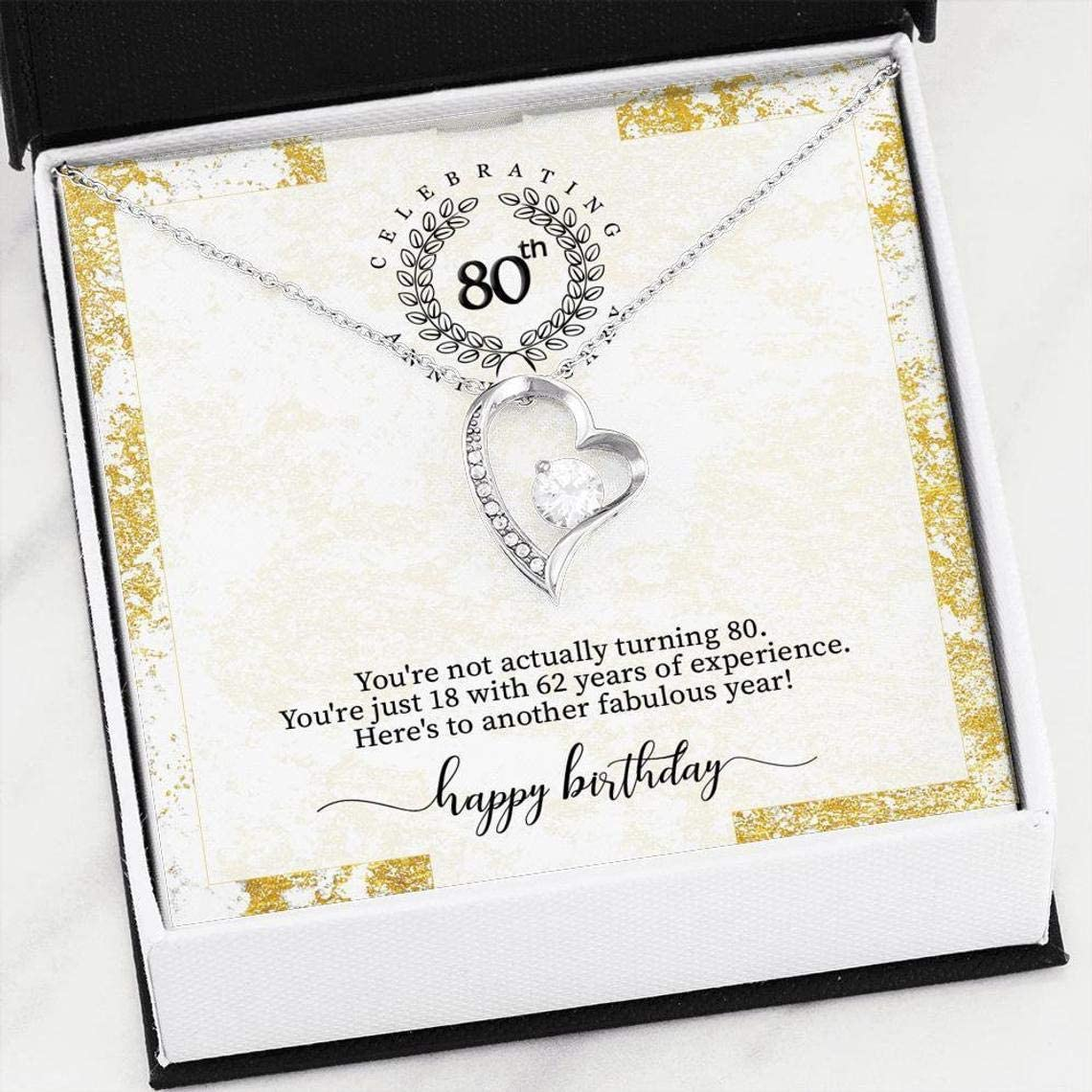 iWow Inspirational 80th San Jose Mall Birthday Neck Jewelry Gift Over item handling ☆