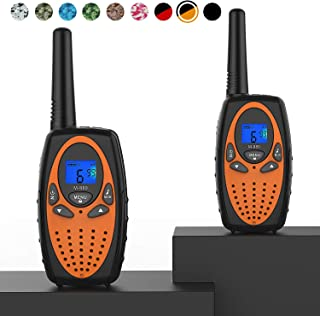 Best Topsung Two Way Radios for Adults, M880 FRS Walkie Talkie Long Range with VOX Belt Clip/Hands Free Walki Talki with Noise Cancelling for Women Kids Camping Hiking Cruise Ship (Orange 2 in 1) Review